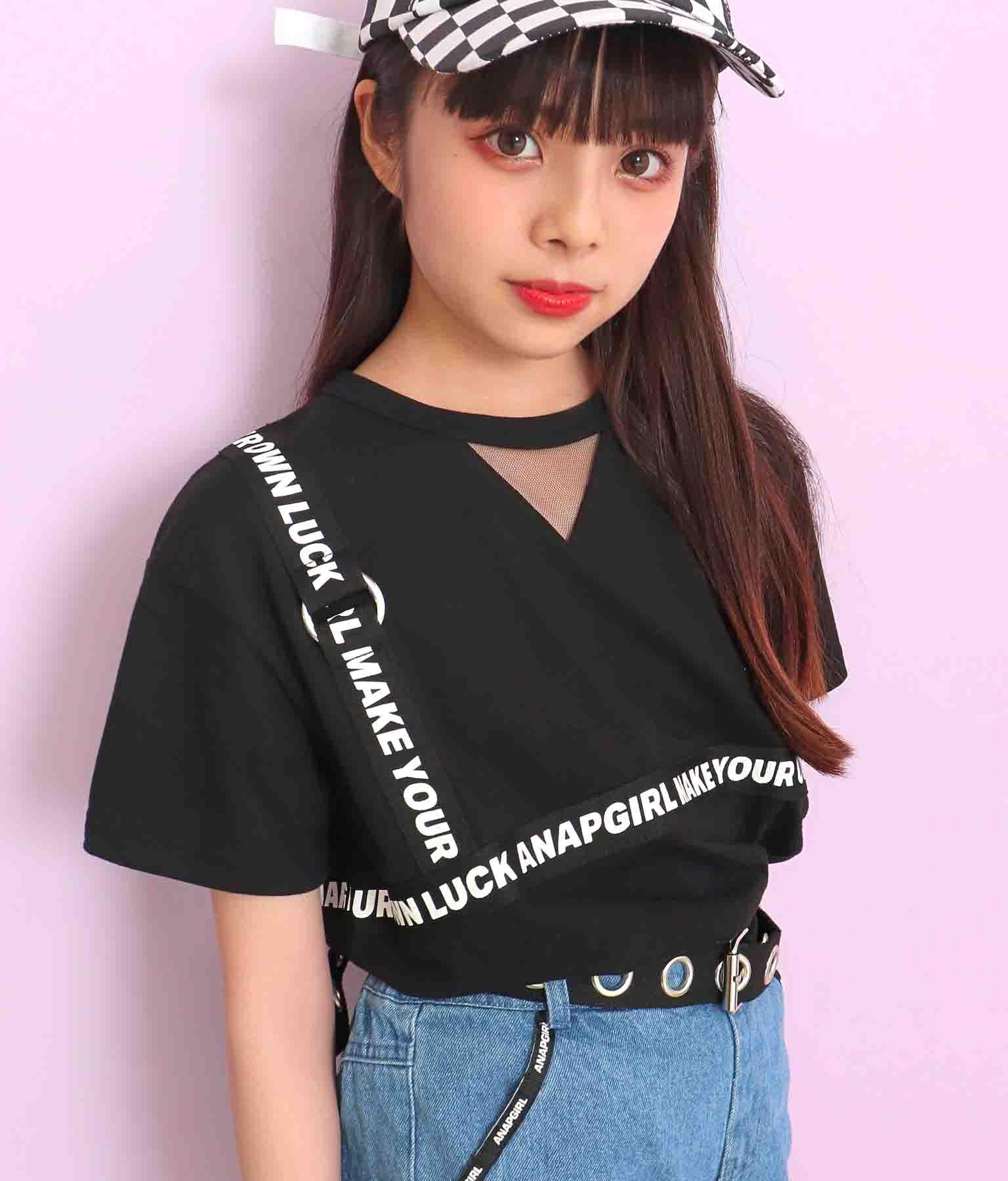ハーネス見えビッグTシャツ(トップス/Tシャツ)   ANAP GiRL