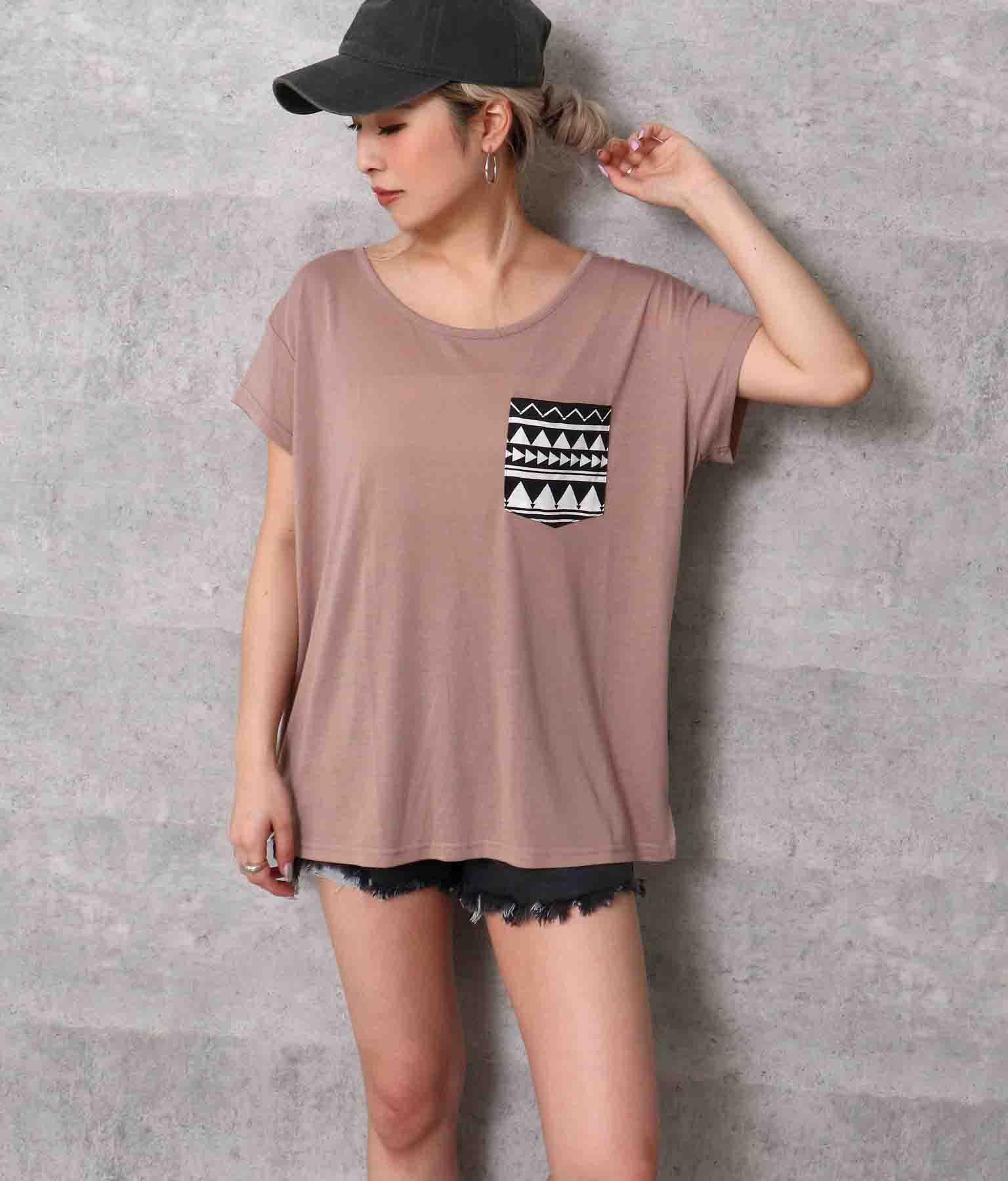 柄ポケットTシャツ | ANAP
