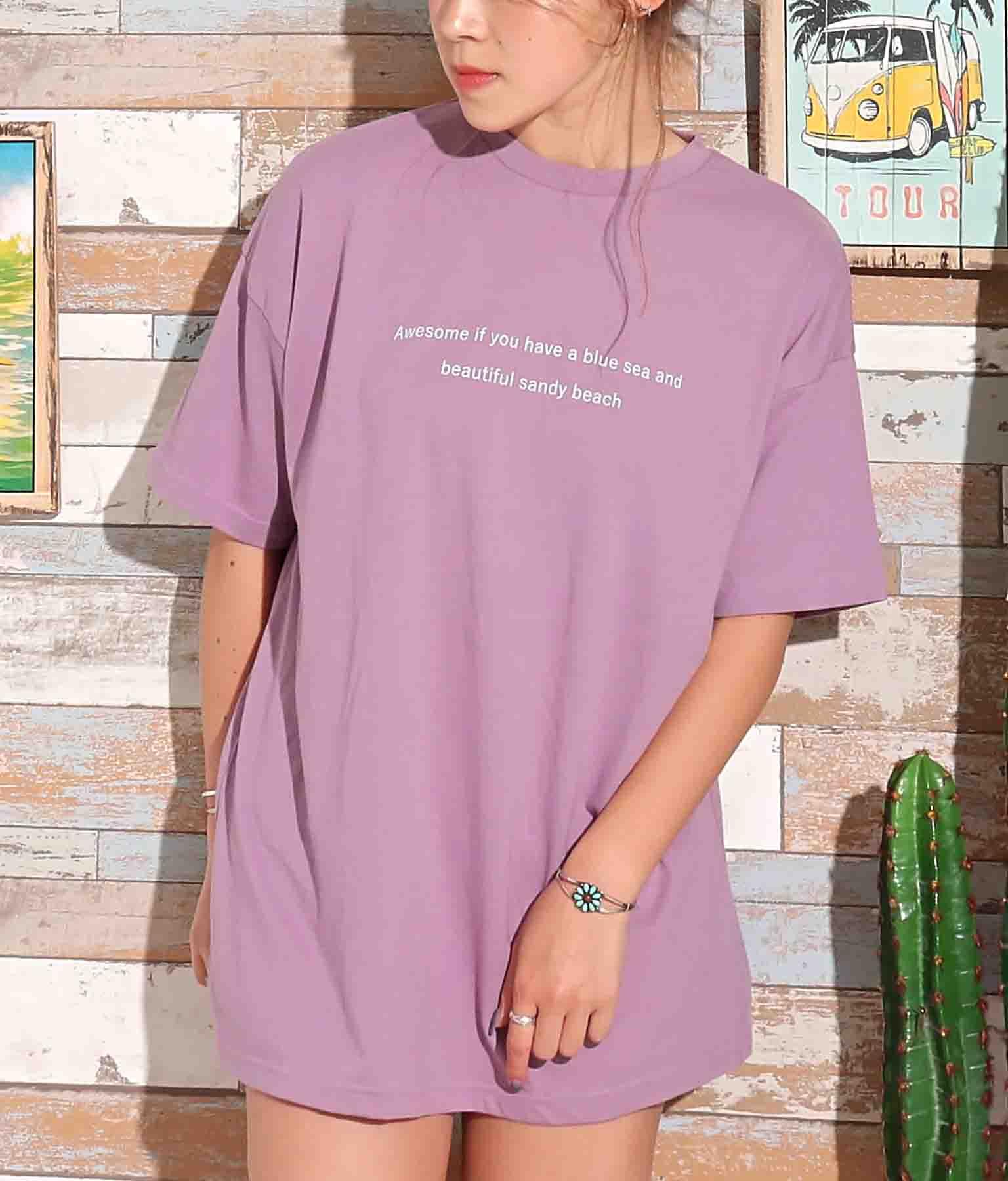 テキストプリントビッグTシャツ