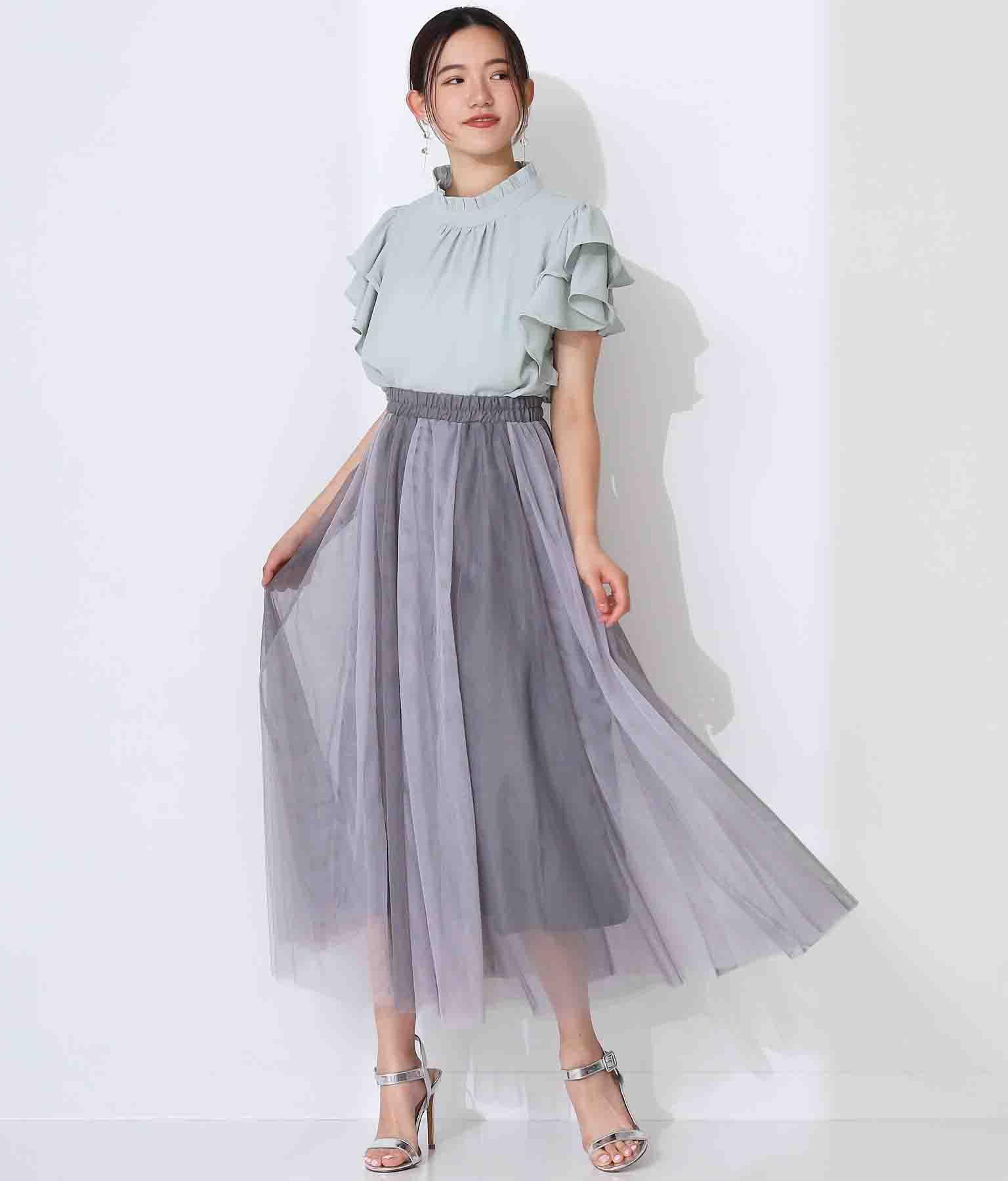 バイカラーデザインチュールスカート(ボトムス・パンツ /スカート) | Alluge