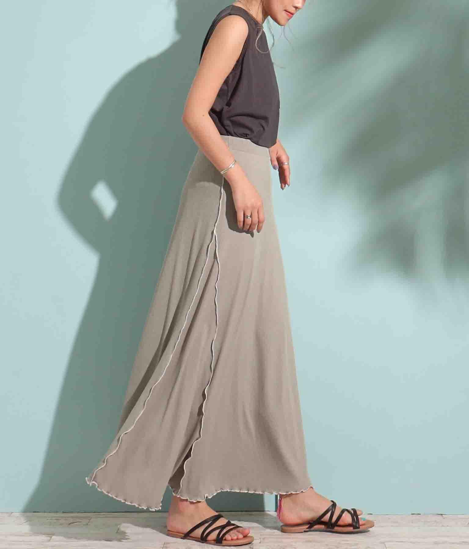 配色メロウリブロングスカート(ボトムス・パンツ /スカート) | anap mimpi