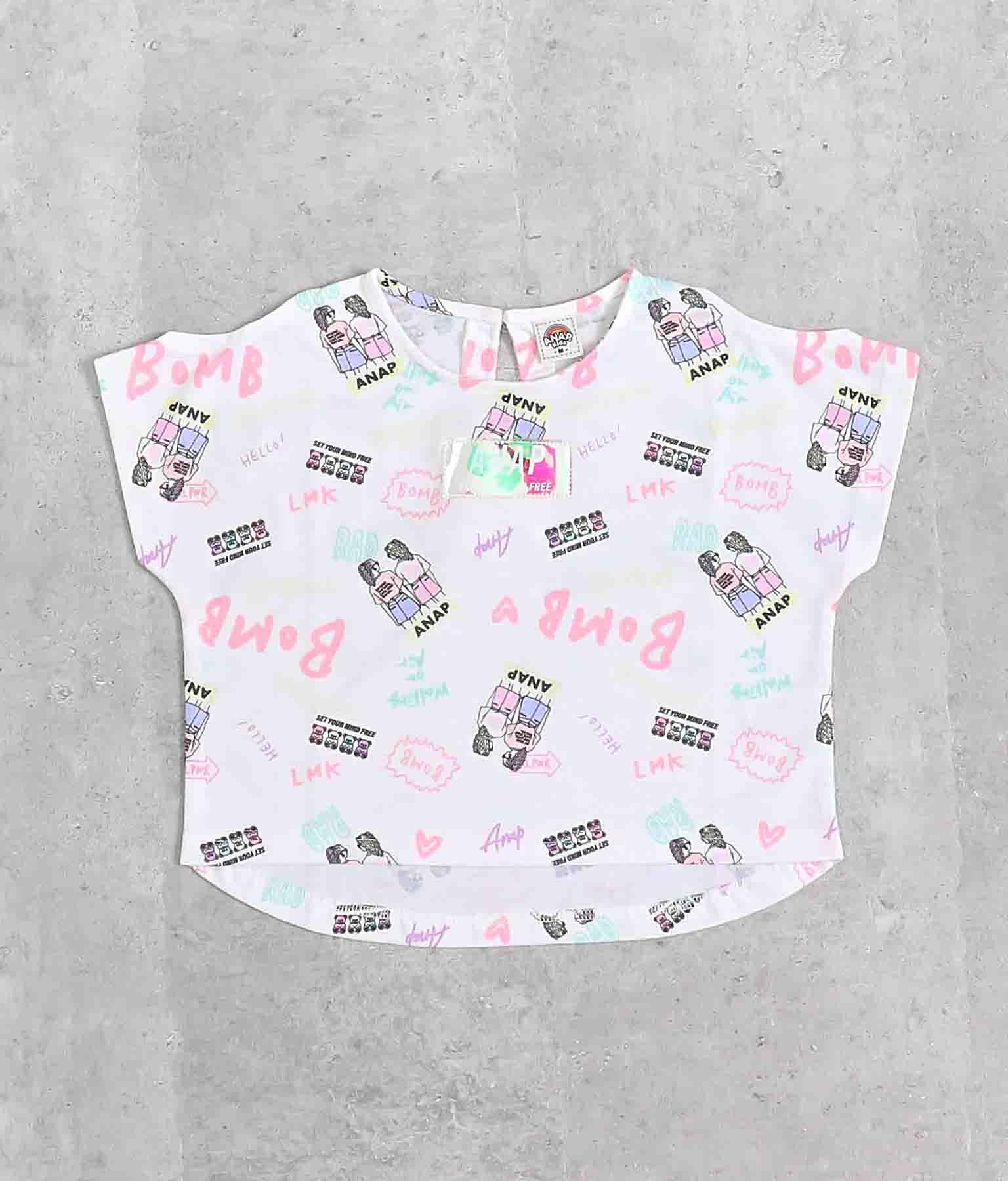 肩開きファッショニスタ柄トップス(トップス/Tシャツ) | ANAP KIDS