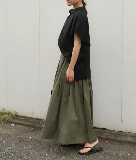 コットンファブリックスカート(ボトムス・パンツ /ミモレ丈スカート・スカート) | AULI