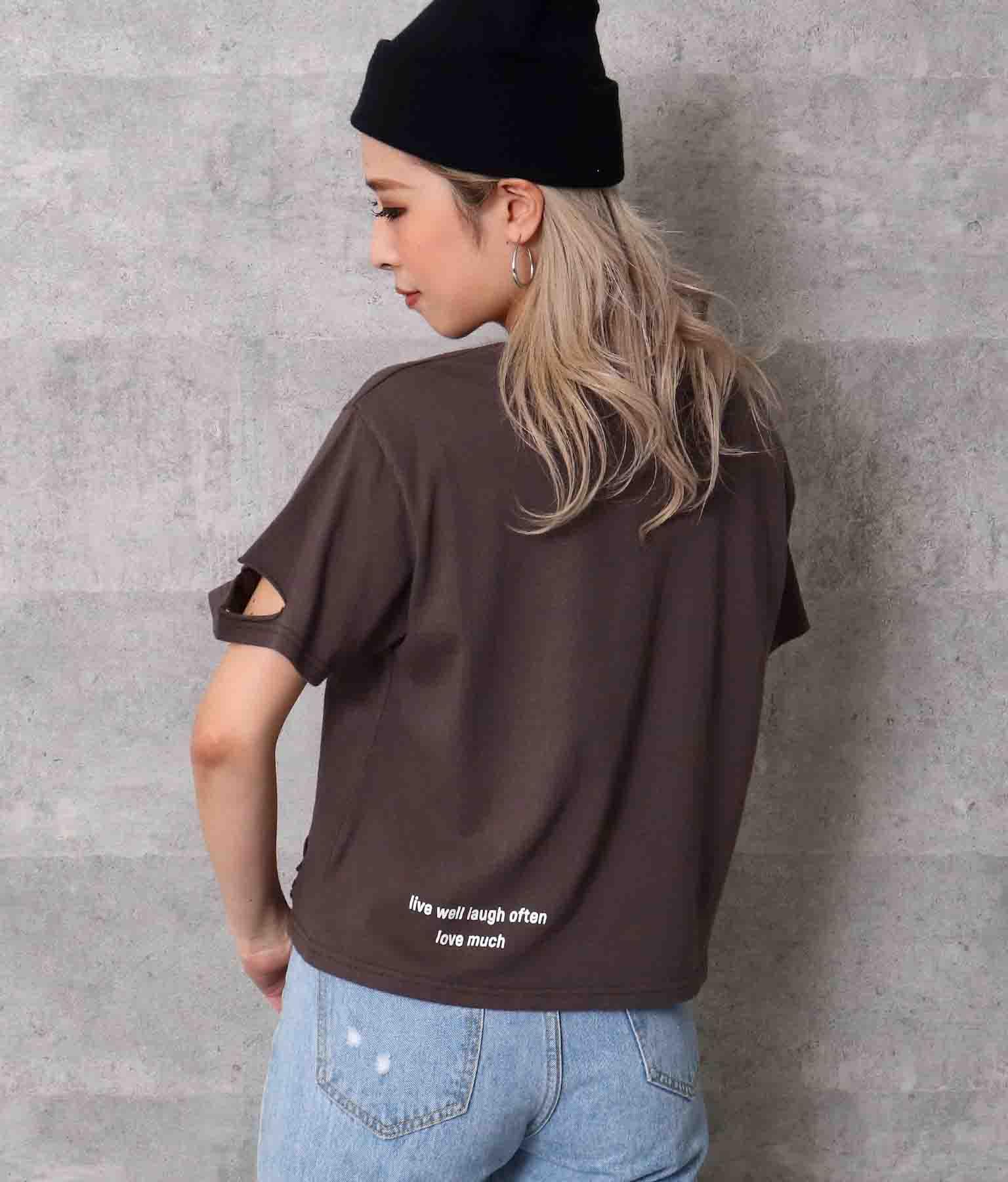 ダメージクロップドTシャツ | ANAP