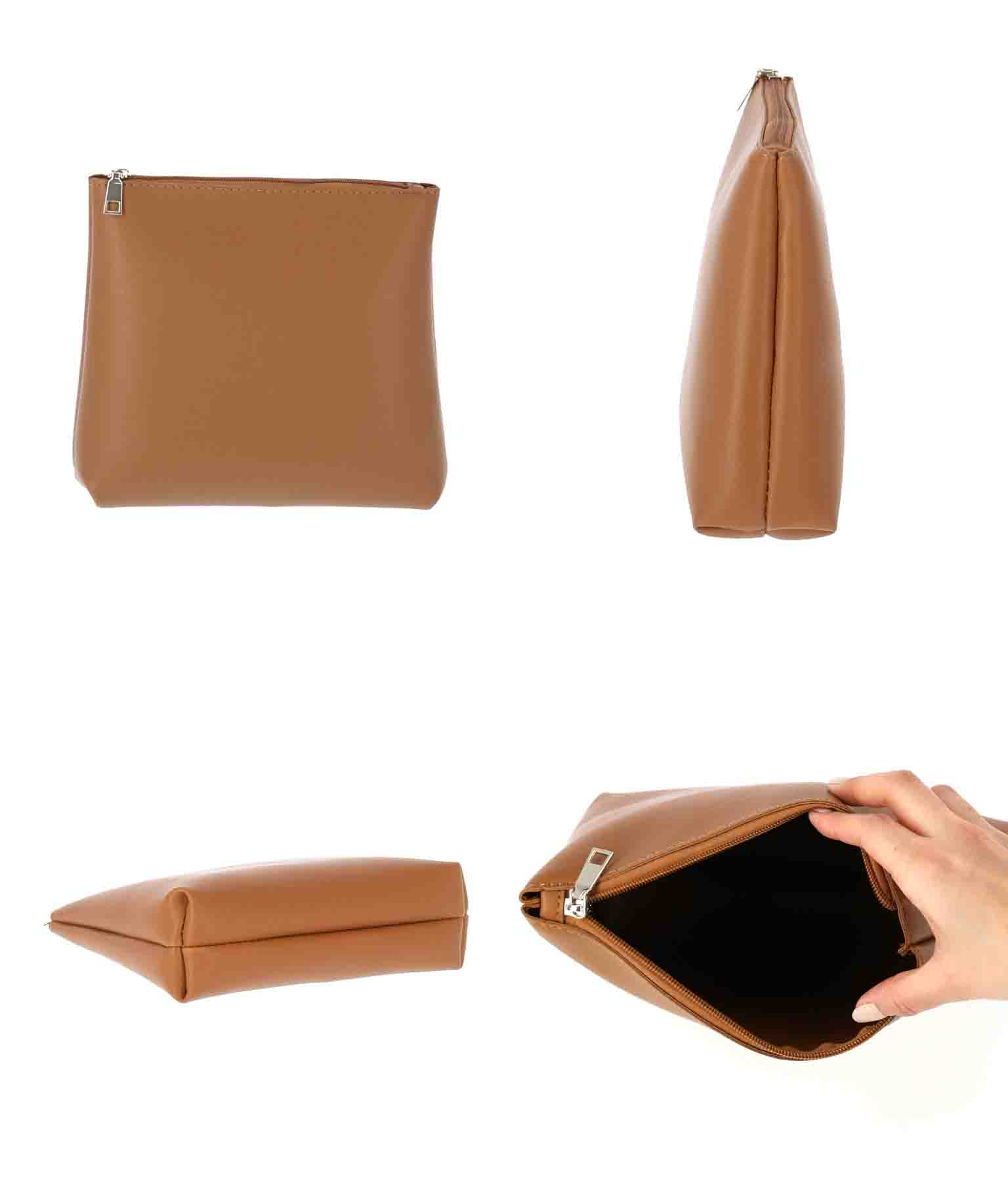 ポーチ付きフェイクレザーカットワークバッグ(バッグ・鞄・小物/ハンドバッグ) | ANAP