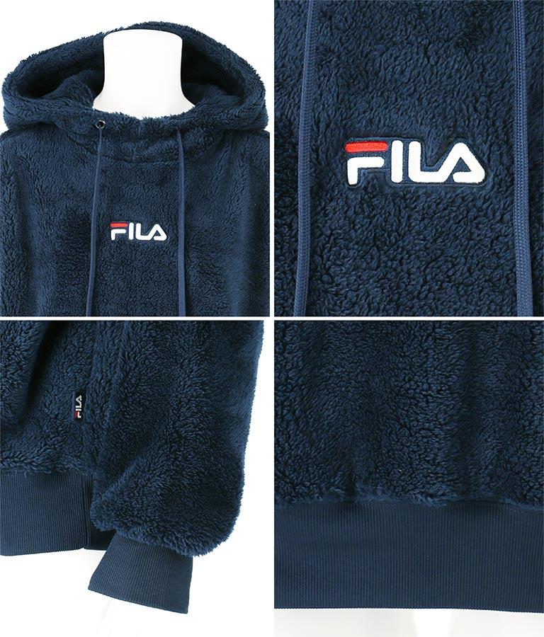 FILA ボアプルパーカー(アウター(コート・ジャケット) /ボアジャケット)   FILA