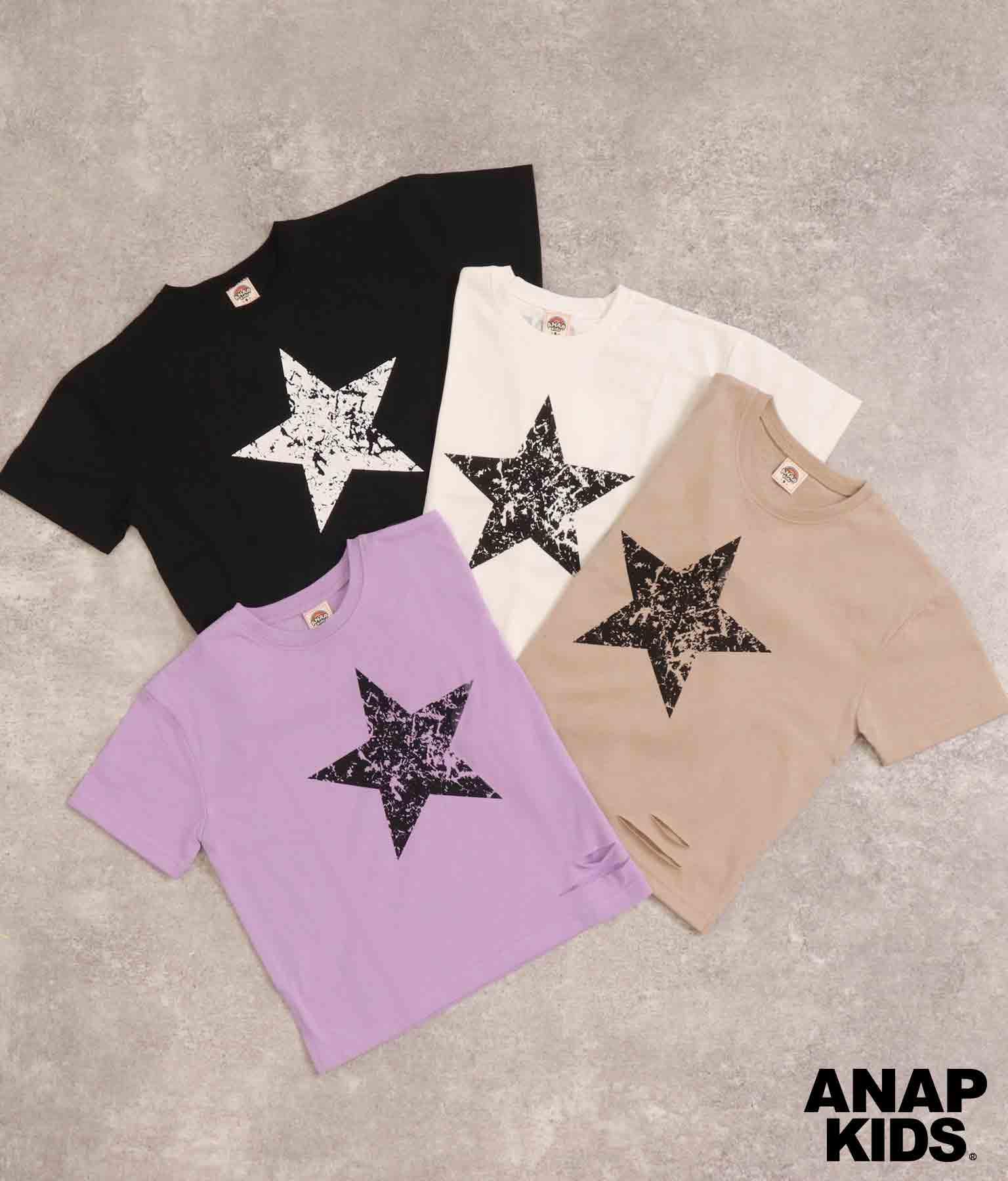 スタープリントスラッシュビッグTシャツ