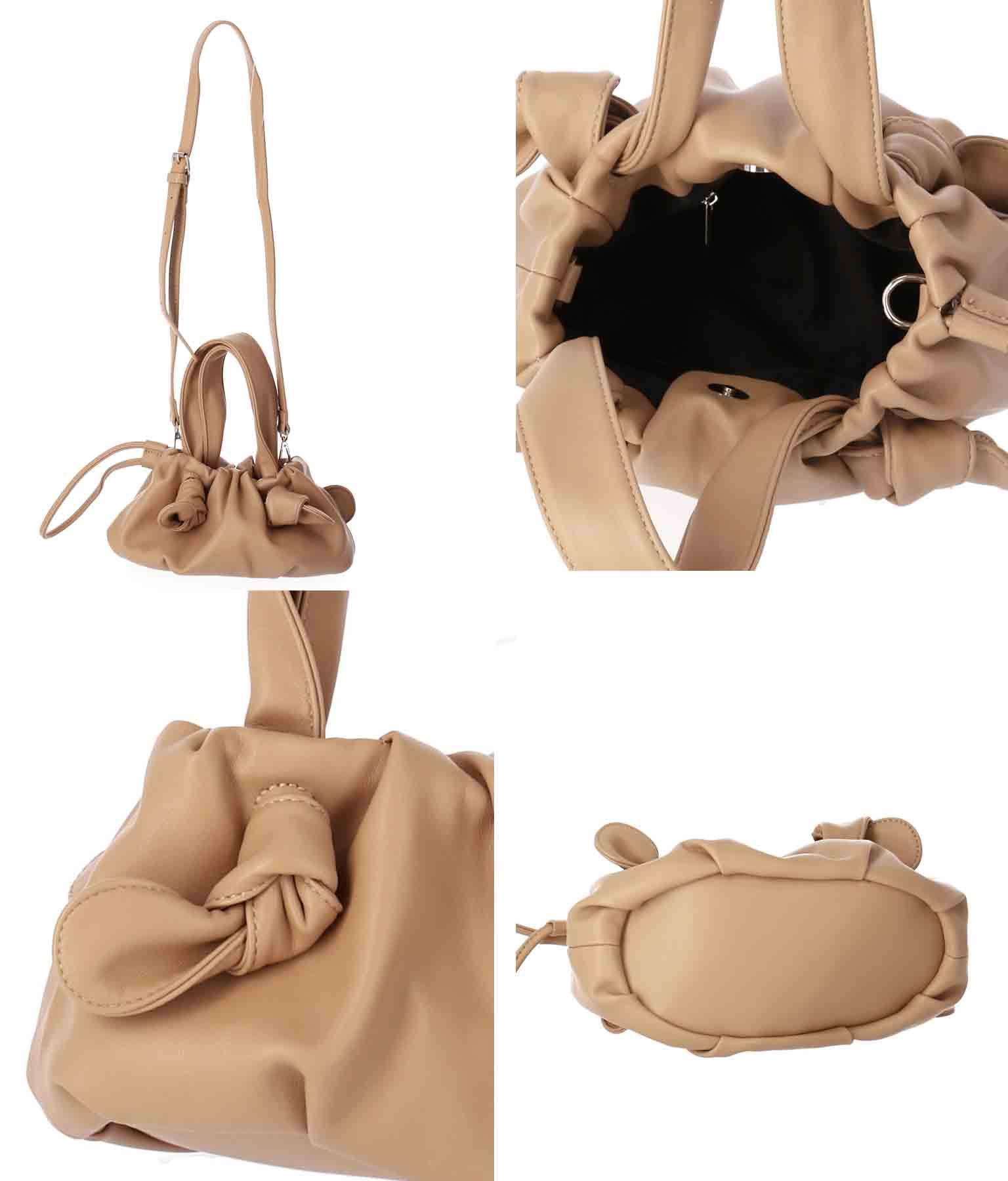 絞りデザインミニバッグ(バッグ・鞄・小物/ハンドバッグ・ショルダーポシェット)   CHILLE