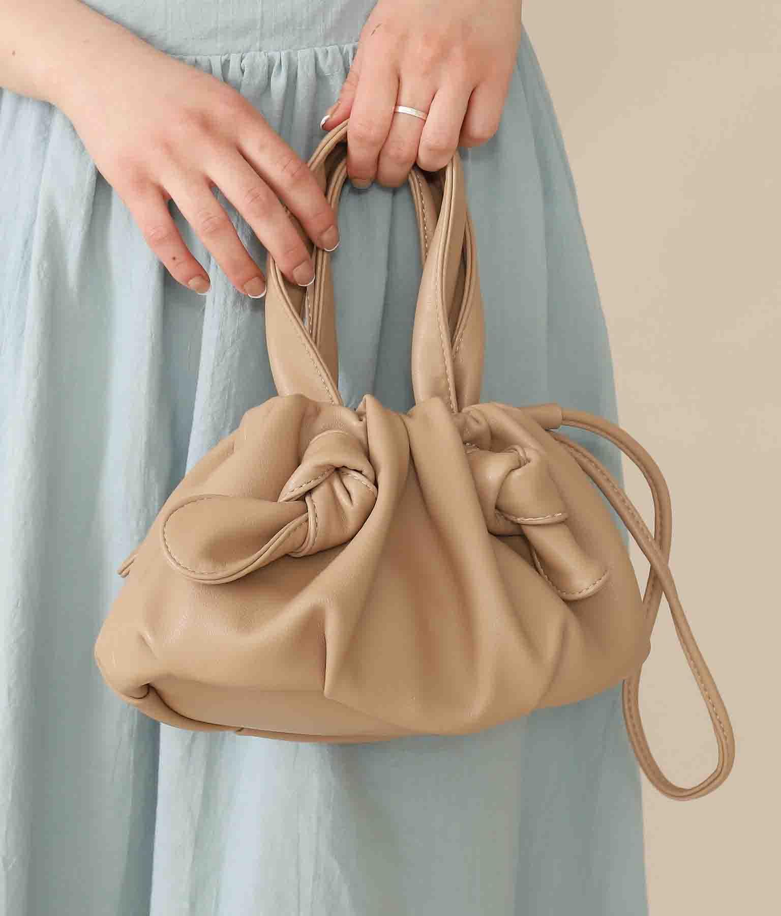 絞りデザインミニバッグ