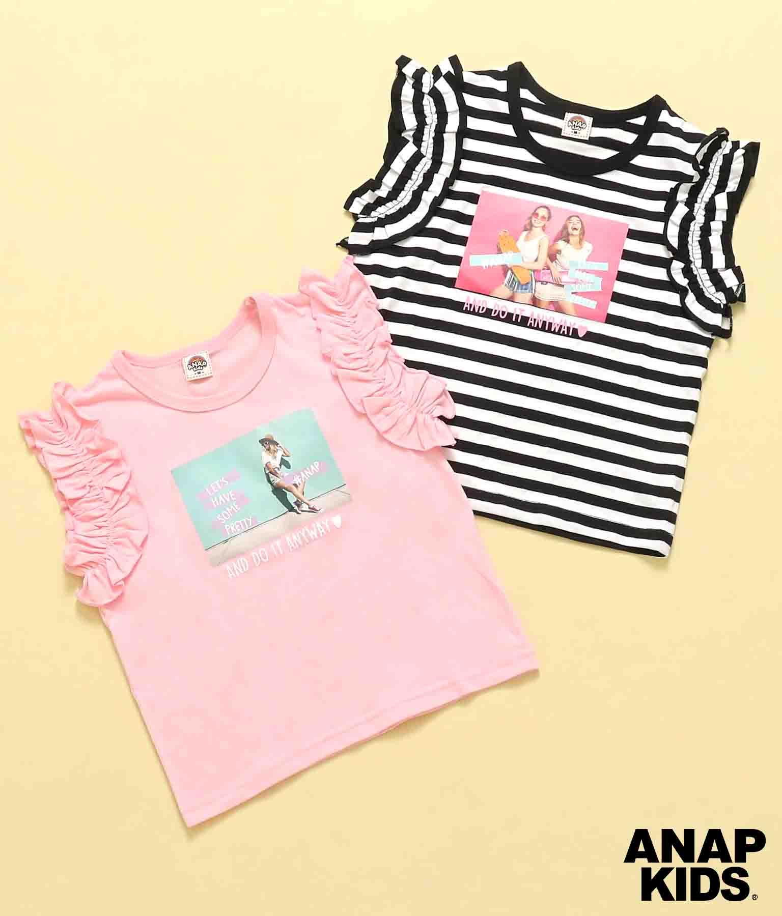 フォトプリントフリルトップス(トップス/Tシャツ) | ANAP KIDS