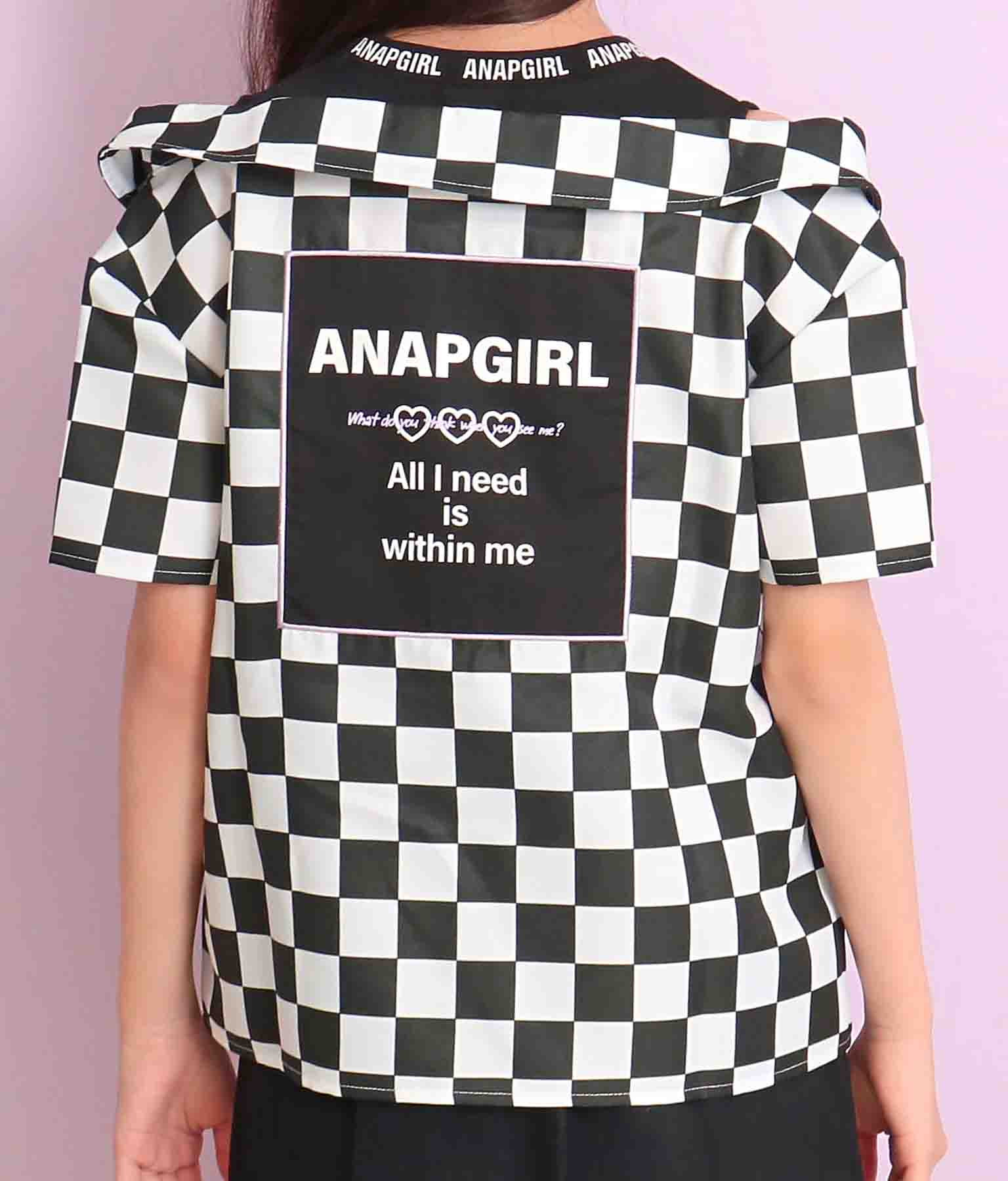 肩開きシャツ見えトップス(トップス/カットソー ) | ANAP GiRL