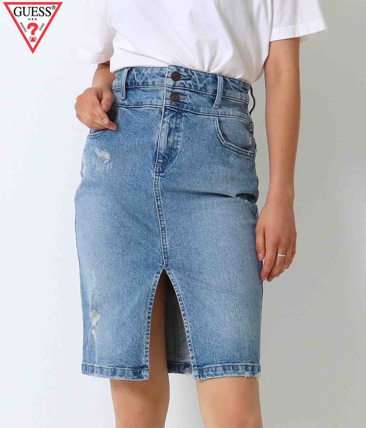 GUESS DOUBLE WAISTED SKIRT