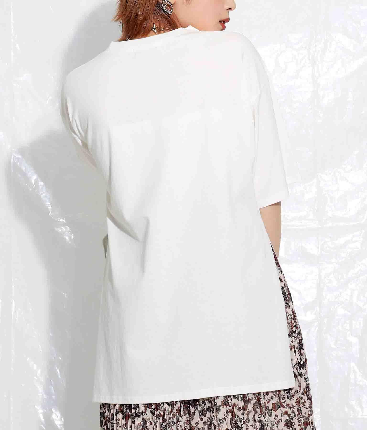 リサイクルコットンサイドスリットTシャツ(トップス/Tシャツ・チュニック) | Settimissimo