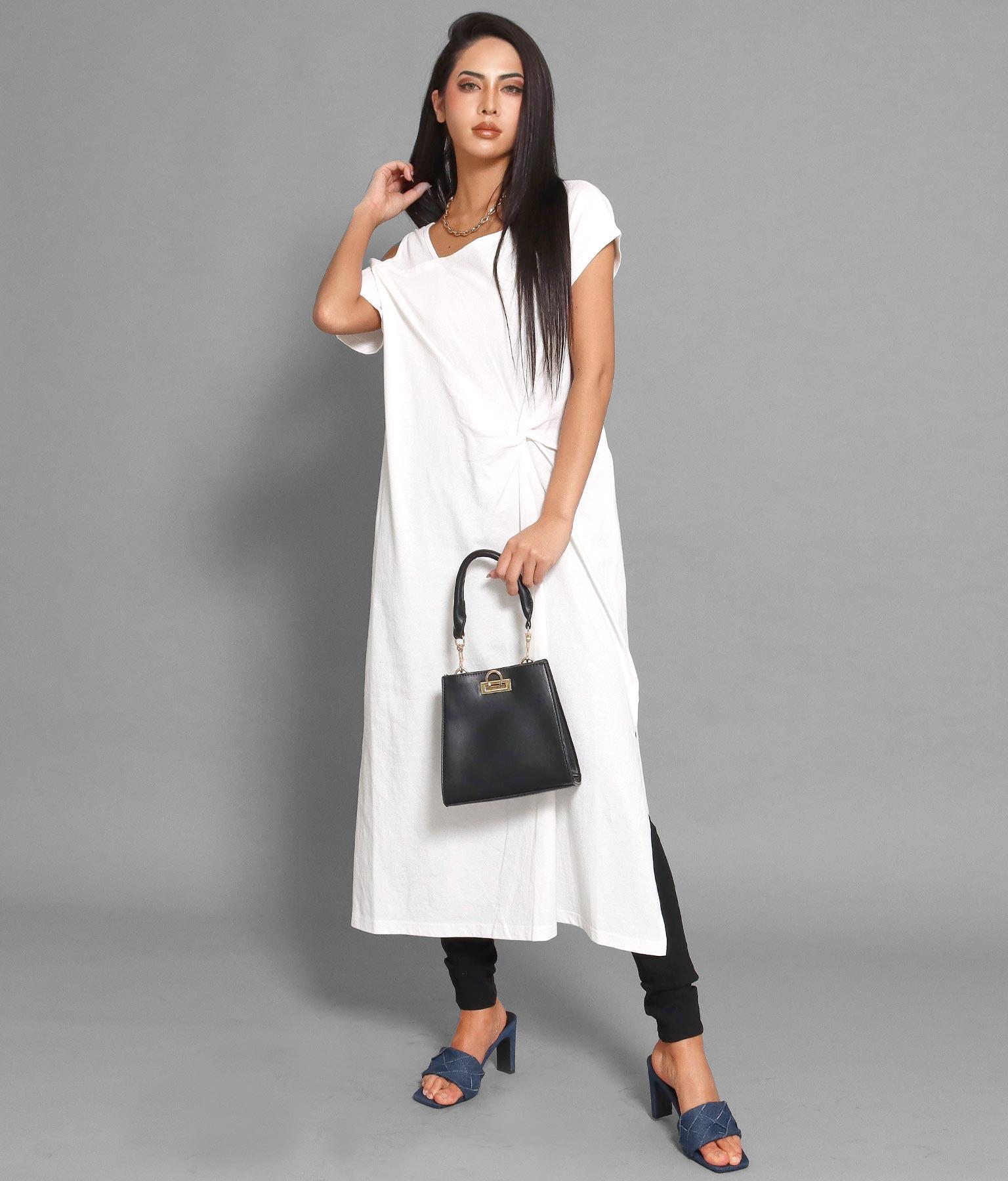 アシメネックディープスリットツイストワンピース(ワンピース・ドレス/ロングワンピ) | anap Latina