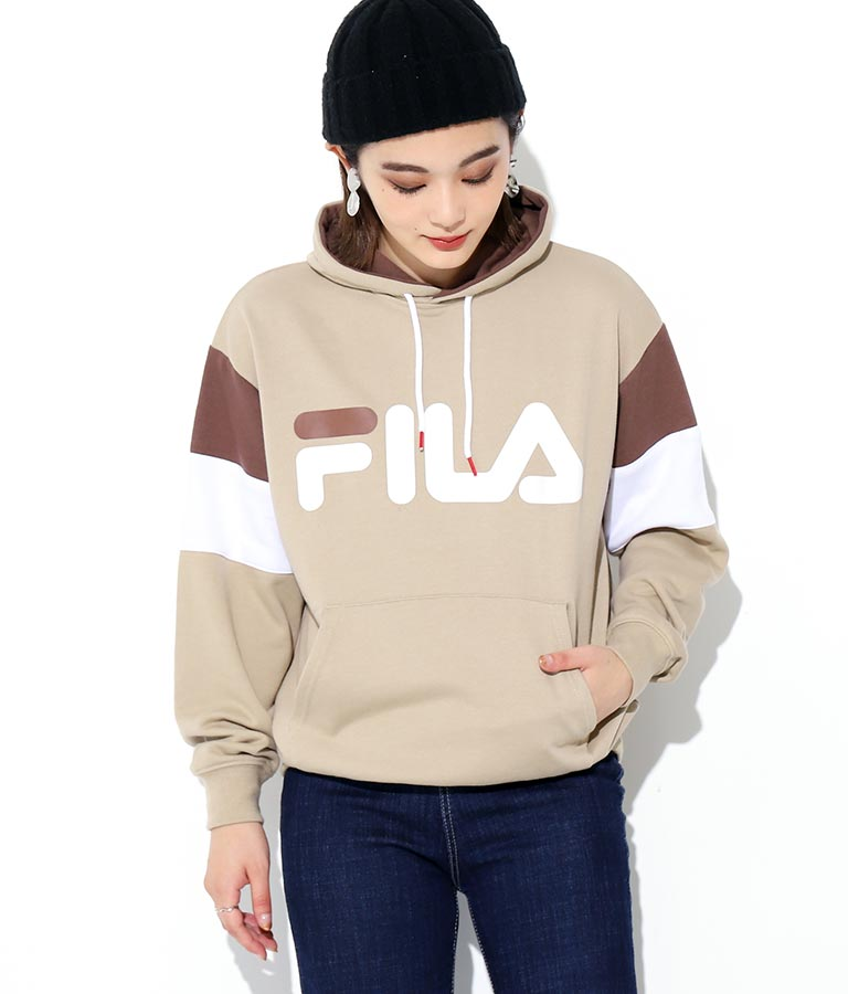 袖切替プルパーカー | FILA