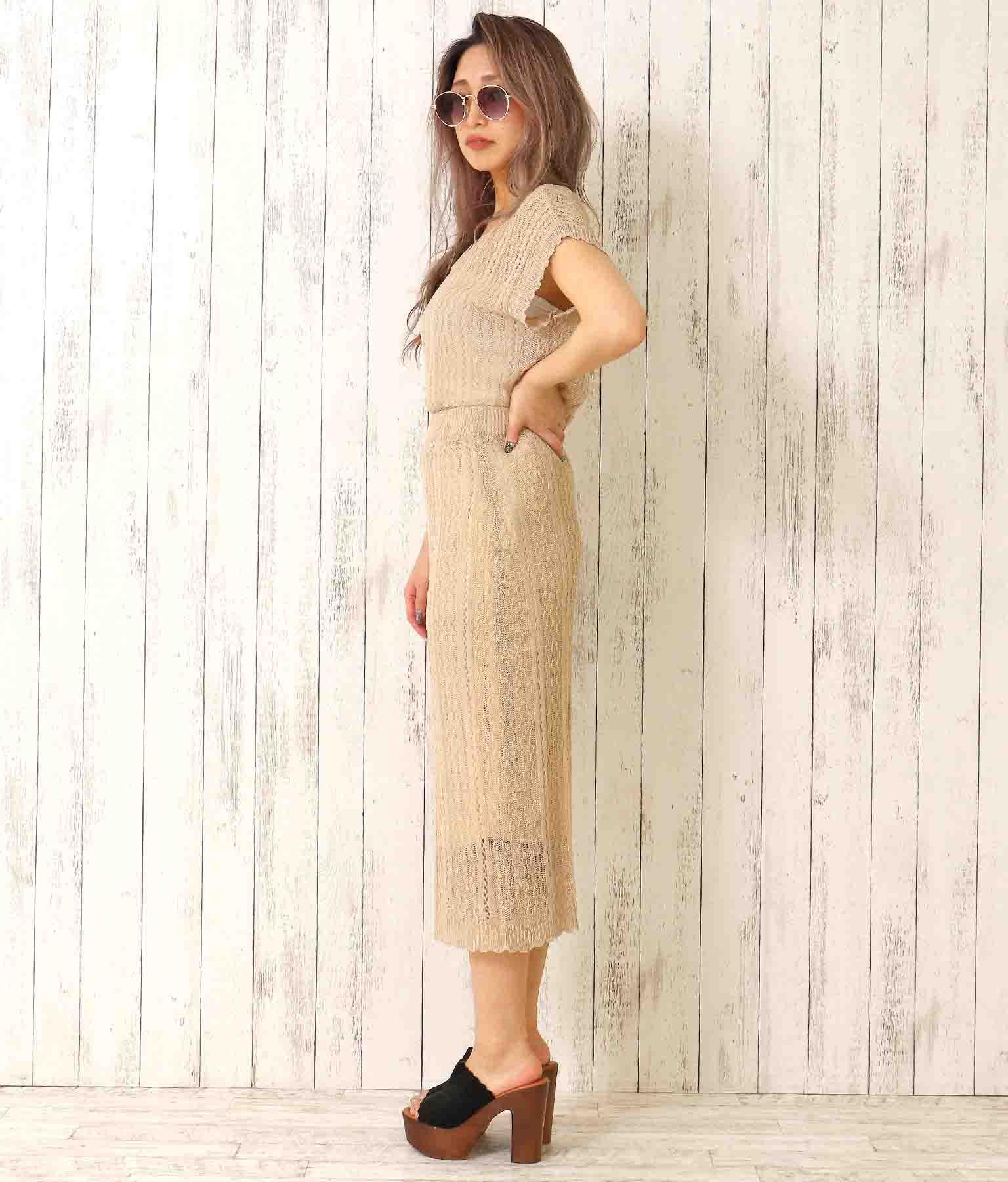 レース編みスカラップヘムスカート(ボトムス・パンツ /スカート)   anap Latina