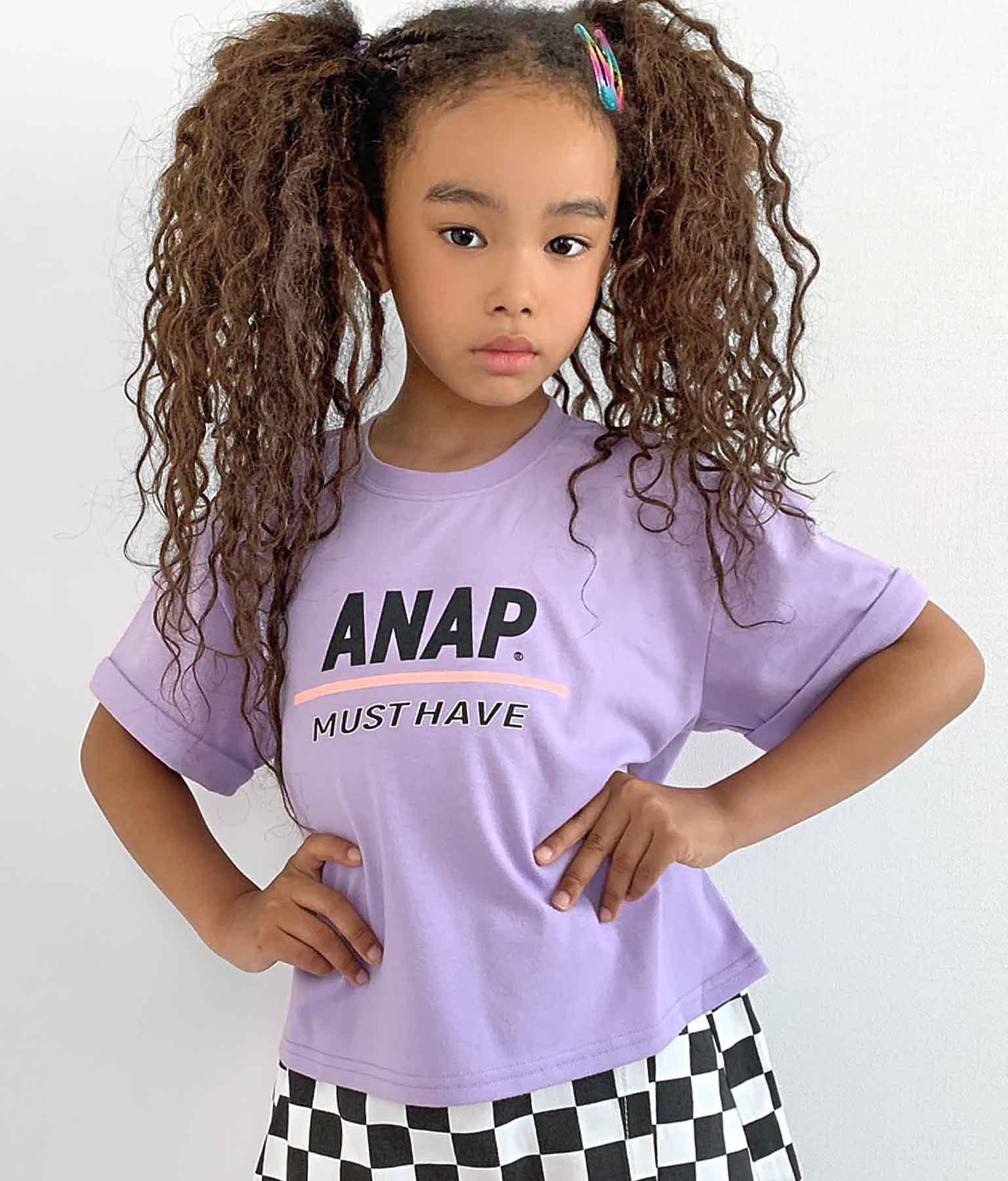 チェッカープリントトップス(トップス/Tシャツ) | ANAP KIDS