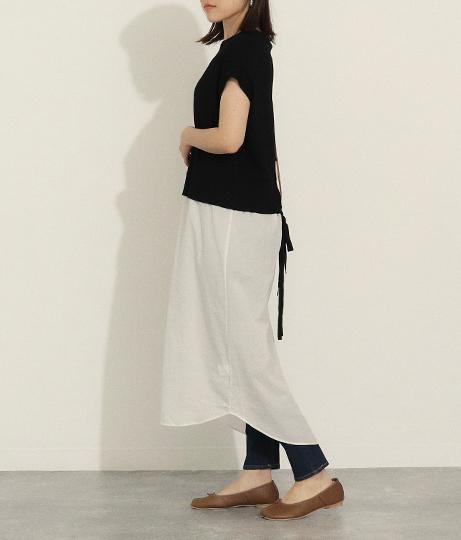 バックリボンレイヤードワンピース(ワンピース・ドレス/ミディアムワンピ)   AULI