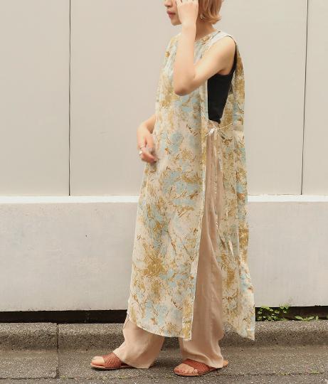 マーブル柄ロングワンピース(ワンピース・ドレス/ロングワンピ) | AULI