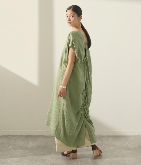 ストライプ織りワンピース(ワンピース・ドレス/ミディアムワンピ) | AULI