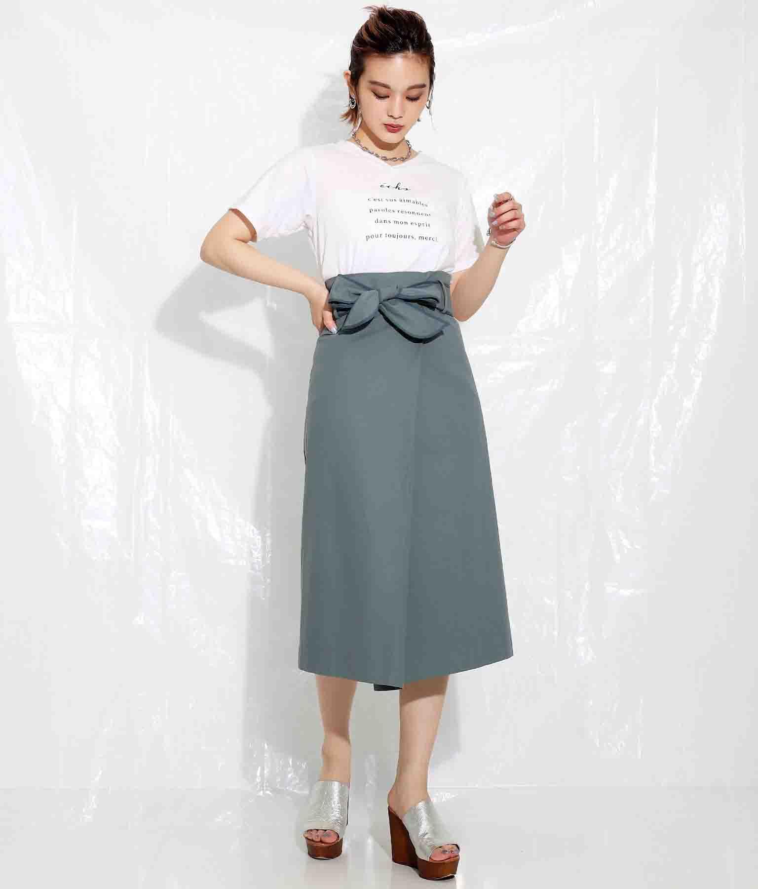 コットンパイピングリボンラップスカート(ボトムス・パンツ /スカート)   Settimissimo