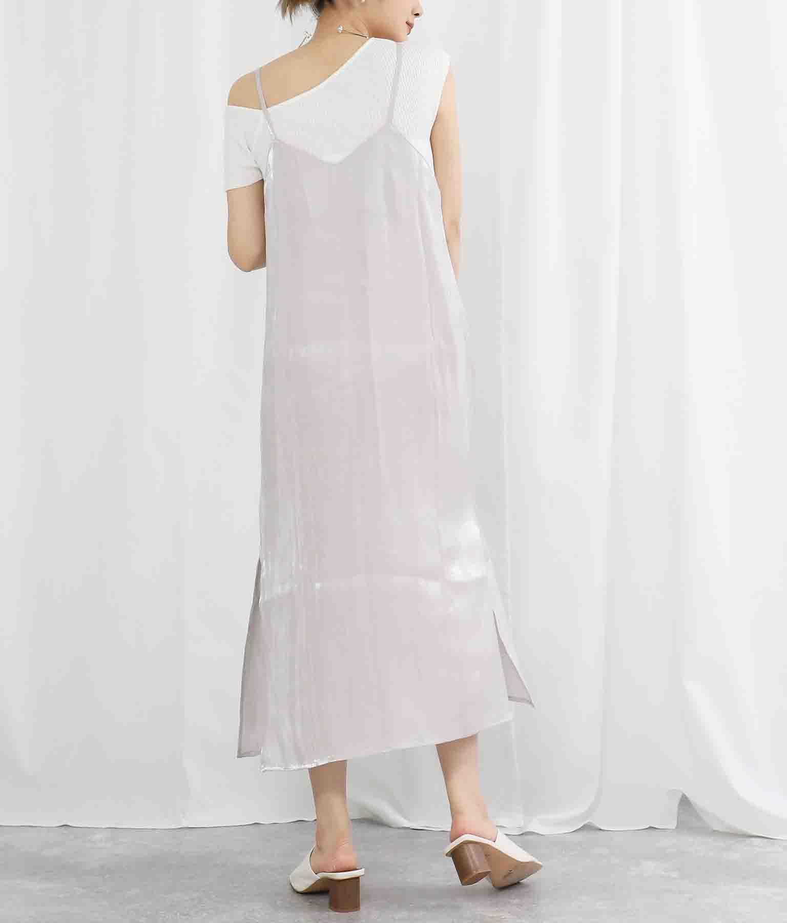 サテンサイドスリットキャミソールワンピース(ワンピース・ドレス/ロングワンピ) | Settimissimo