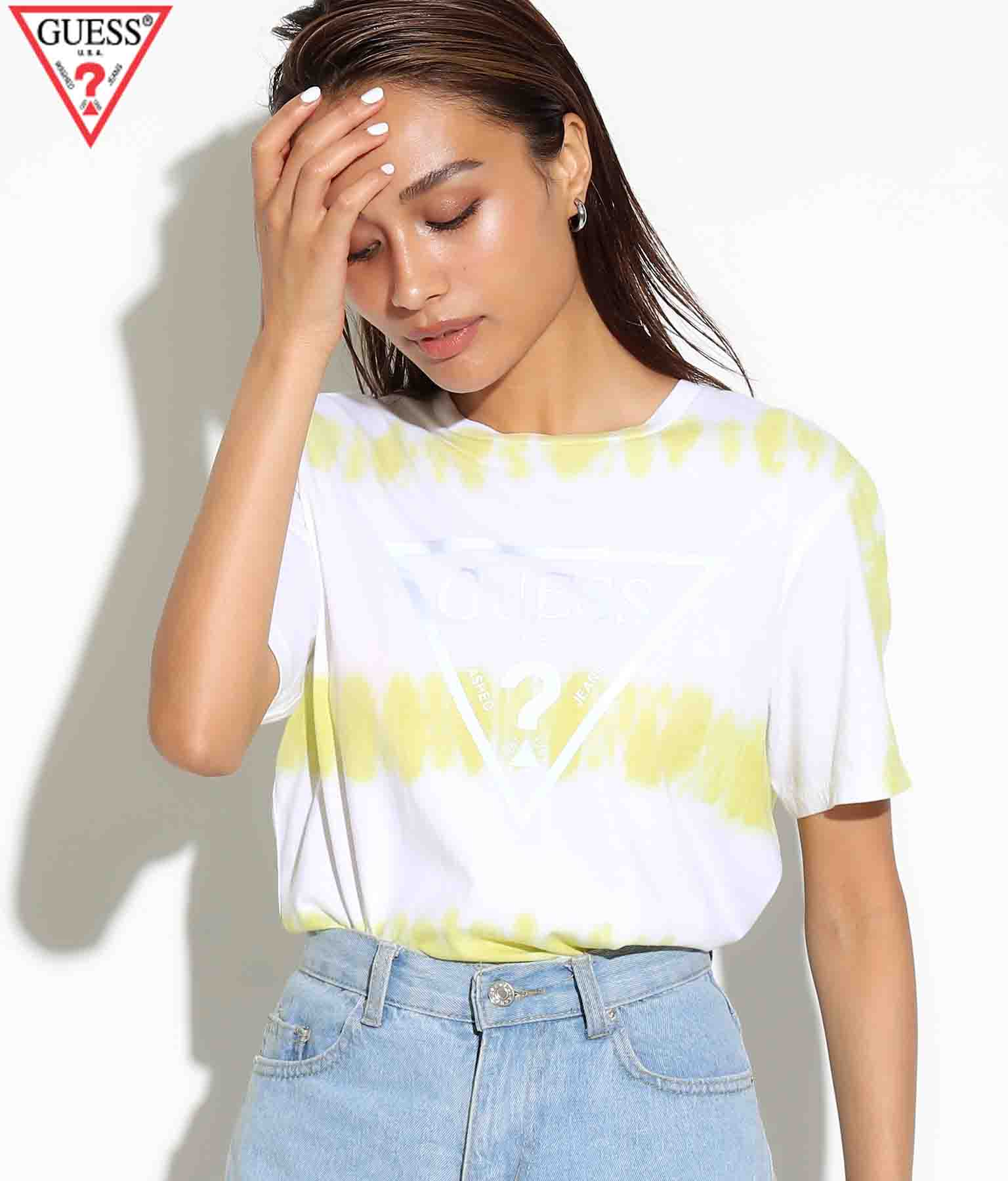 GUESS SS BSC REFLECTIVE LOGO CREW