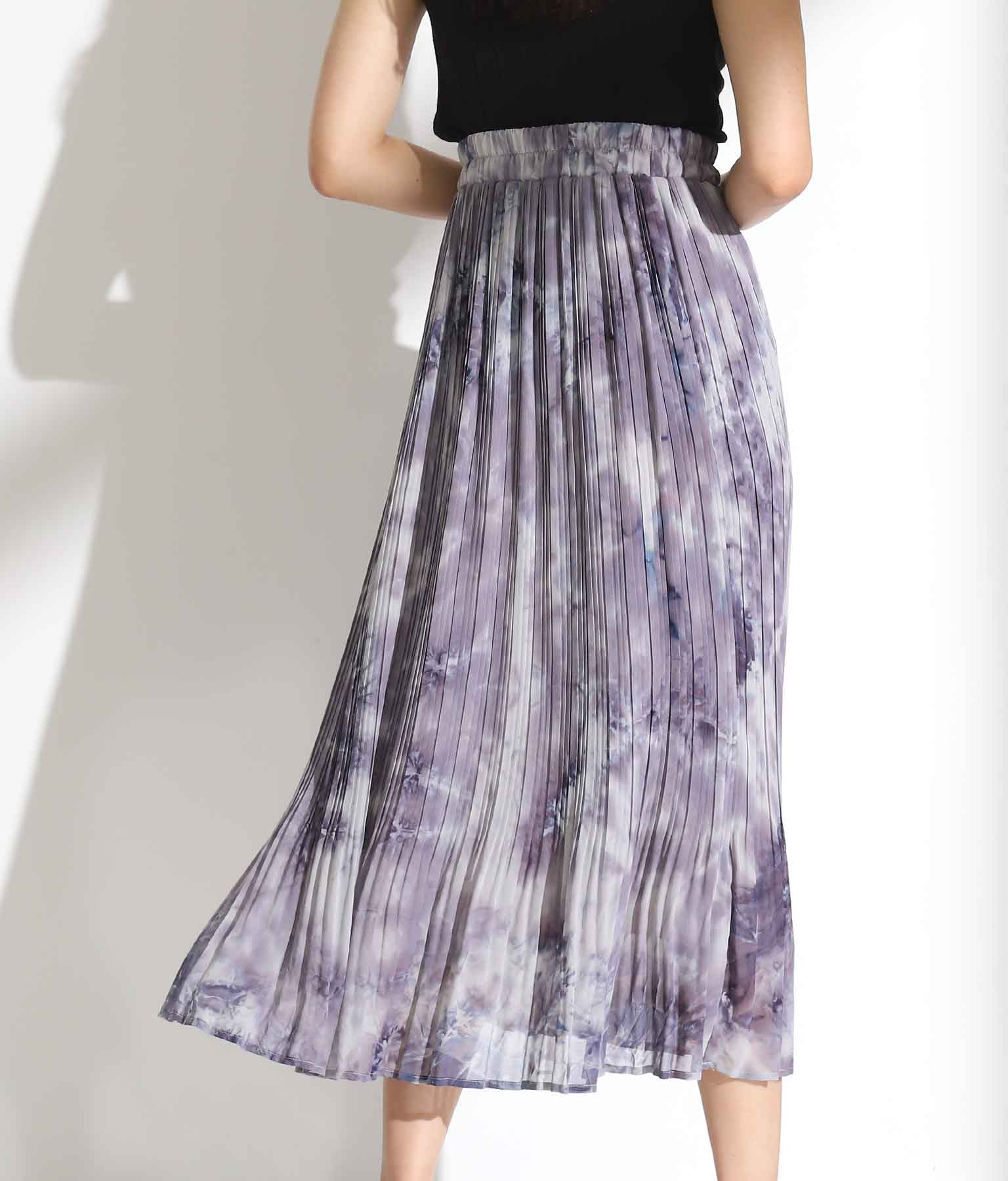 タイダイ染シフォン消しプリーツスカート(ボトムス・パンツ /スカート) | Alluge