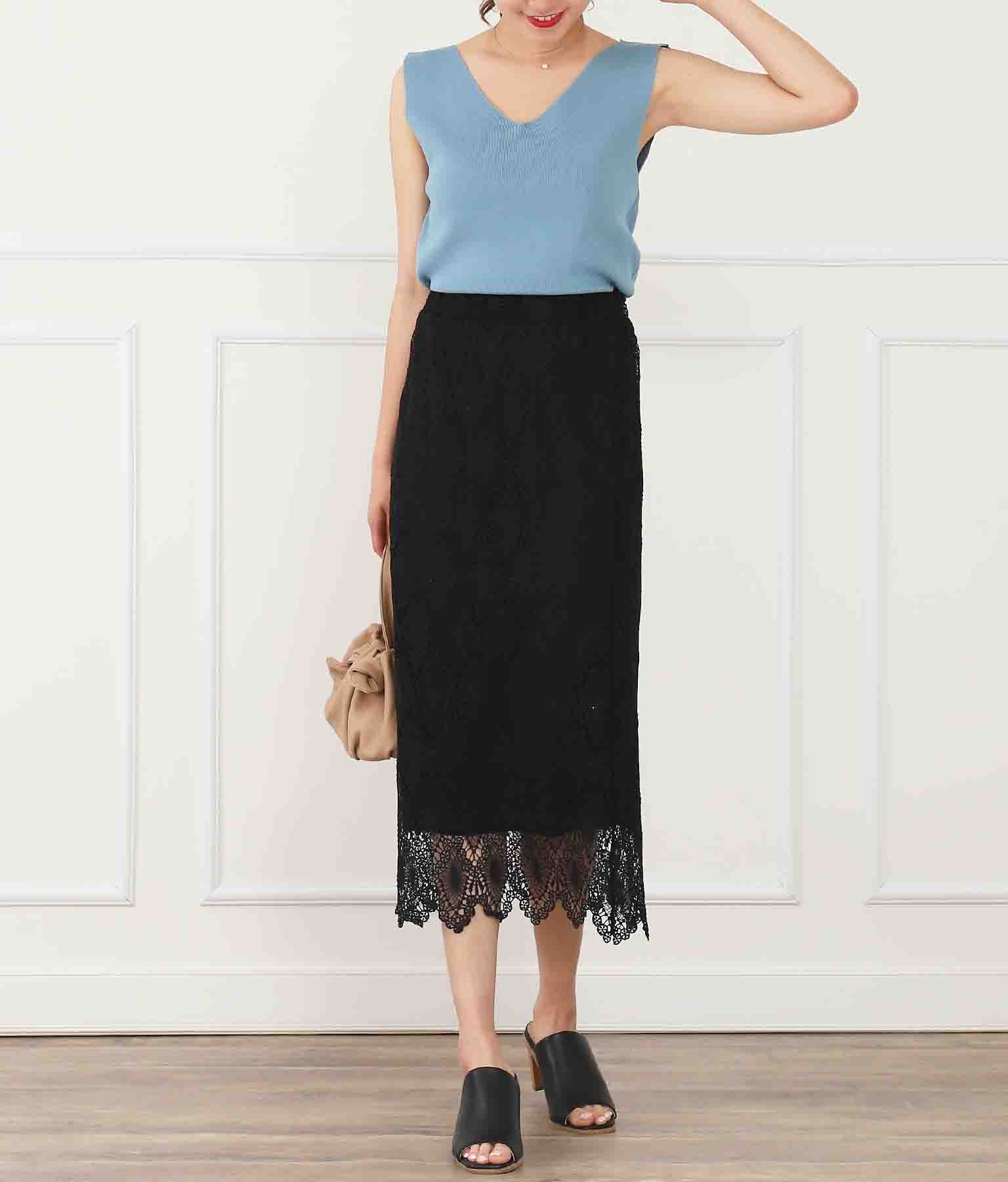 ウエストゴム総レースタイトスカート(ボトムス・パンツ /スカート) | CHILLE