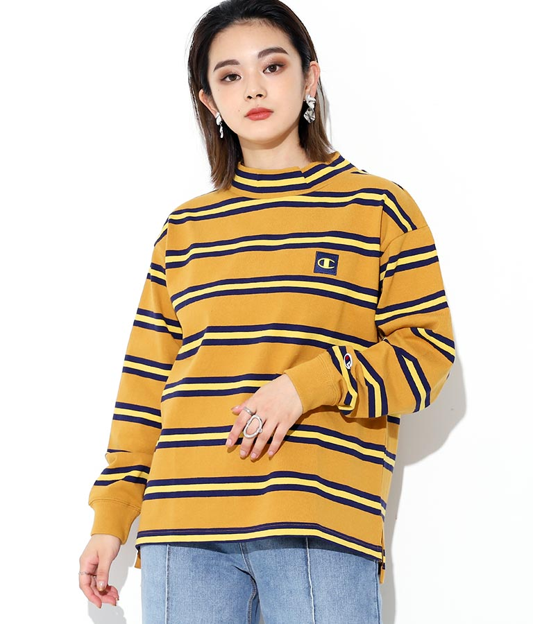 LONG SLEEVE MOCK NECK T-SHIRT(トップス/Tシャツ・ロングTシャツ) | Champion