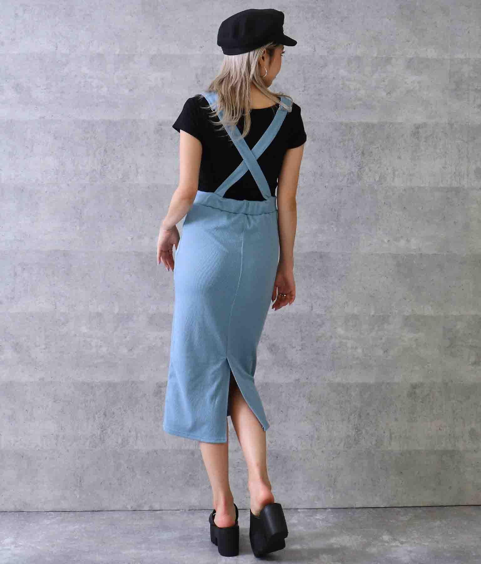 カットリブジャンパースカート(ワンピース・ドレス/サロペット/オールインワン) | ANAP