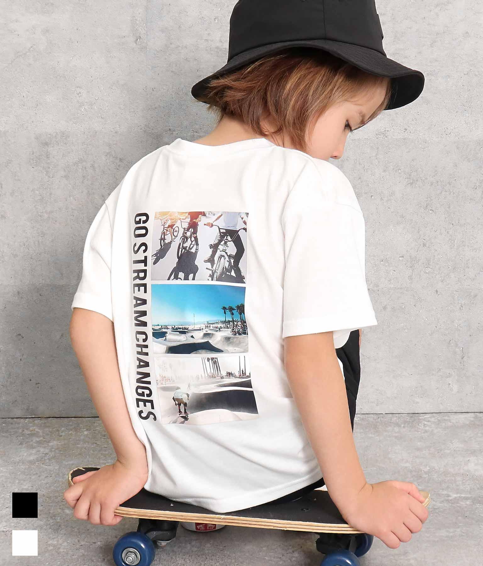 バックフォトプリントビッグTシャツ