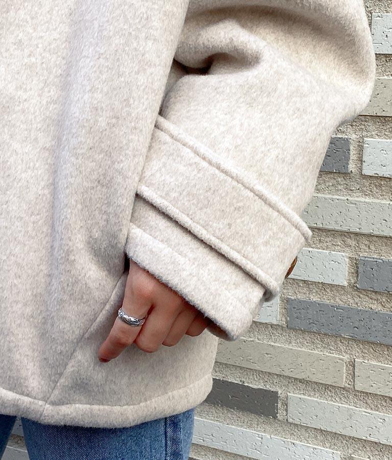 くるみボタンショートボリュームコート(アウター(コート・ジャケット) /コート (トレンチコート・ロングコート) ) | anap mimpi
