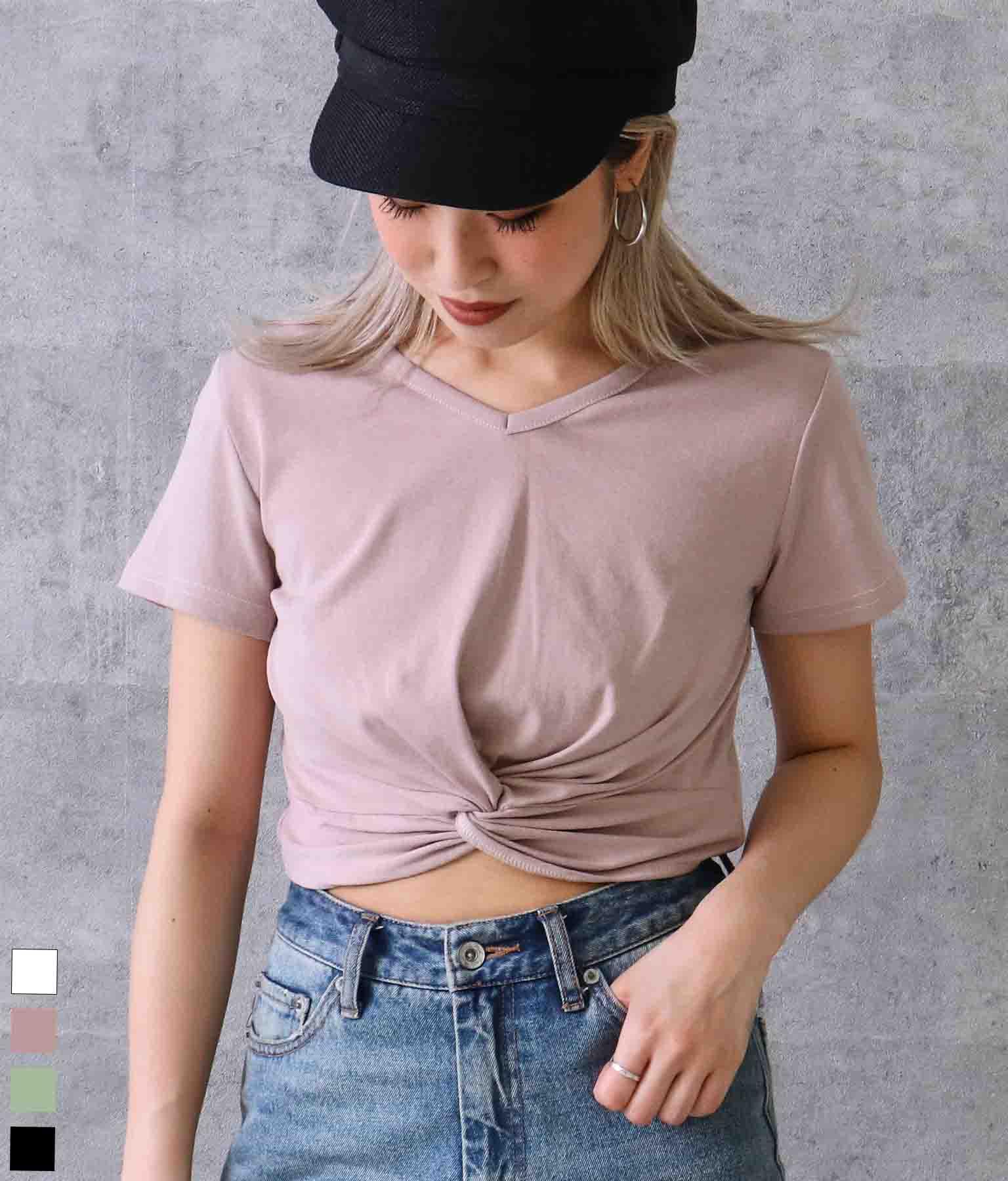 フロントツイストTシャツ