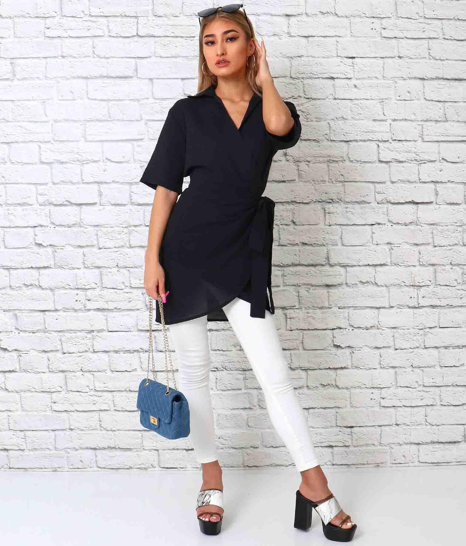 カシュクールサイドリボンスキッパーシャツ(トップス/カットソー )   anap Latina