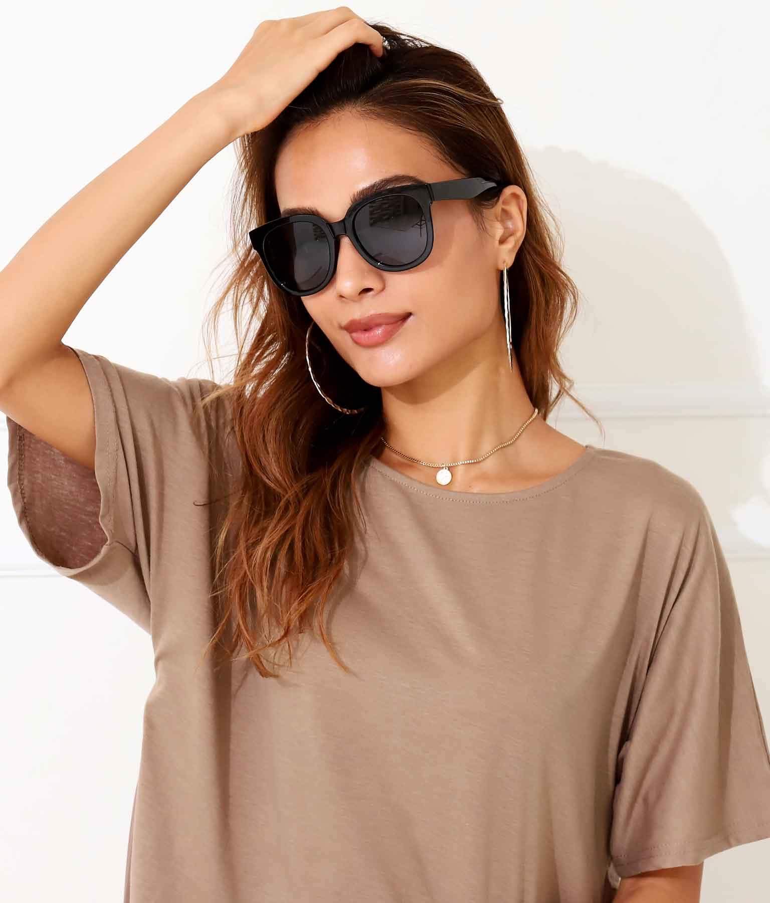 シアーブラックウェリントンサングラス(ファッション雑貨/サングラス) | anap Latina
