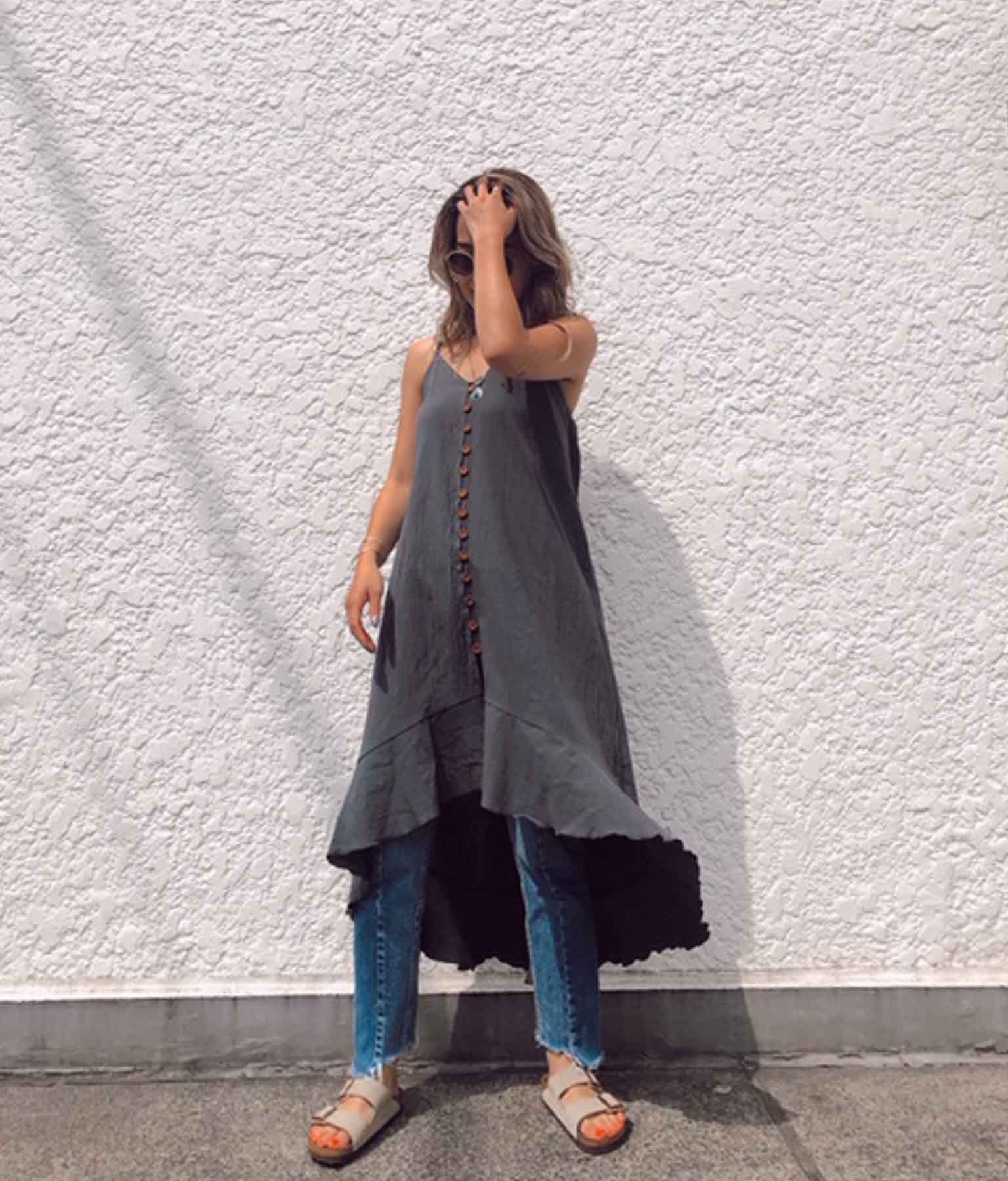 フィッシュテールキャミソールワンピース(ワンピース・ドレス/ロングワンピ・ミディアムワンピ) | anap mimpi