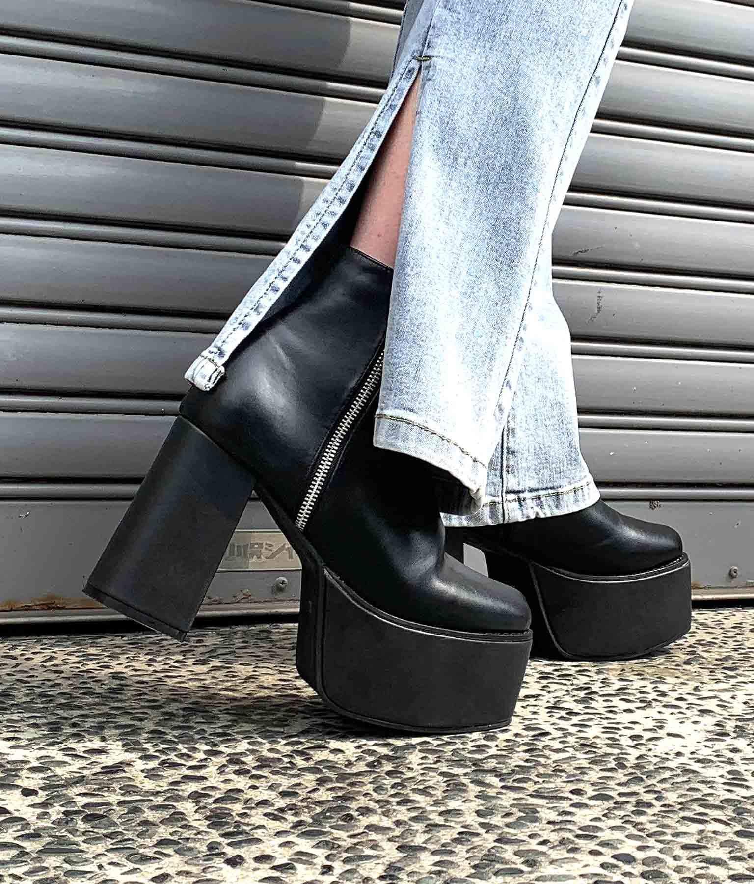 フェイクZIP厚底ブーツ(シューズ・靴/ブーツ・厚底ブーツ)   ANAP