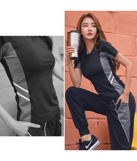 スポーツウェア フィットネスウェア 4点セット(水着/Tシャツ・ブラ・チューブ・ベアトップ・ロングパンツ・ラッシュガード)   HOYUKI