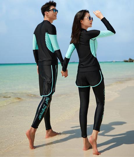 レディース フィットネス水着5点セット(水着/レギンス・ビキニ・ボードショーツ・ラッシュガード・水着セット) | HOYUKI