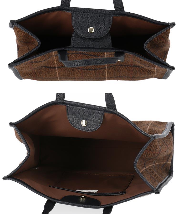 ツイードチェックトートバッグ(バッグ・鞄・小物/トートバッグ) | Alluge