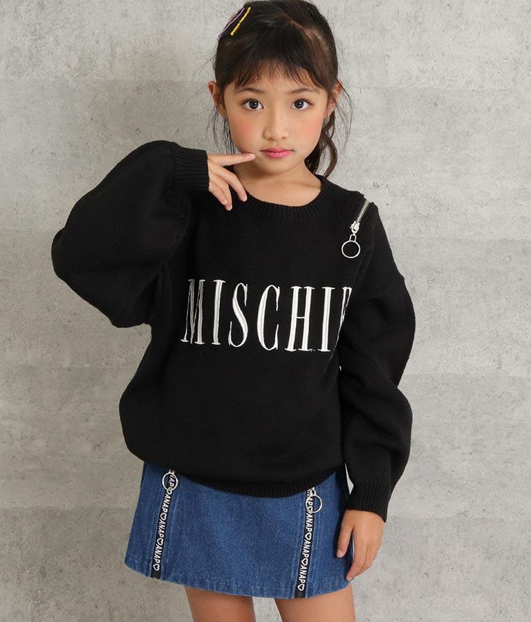 肩ジップ刺繍ニットトップス(トップス/ニット/セーター) | ANAP KIDS