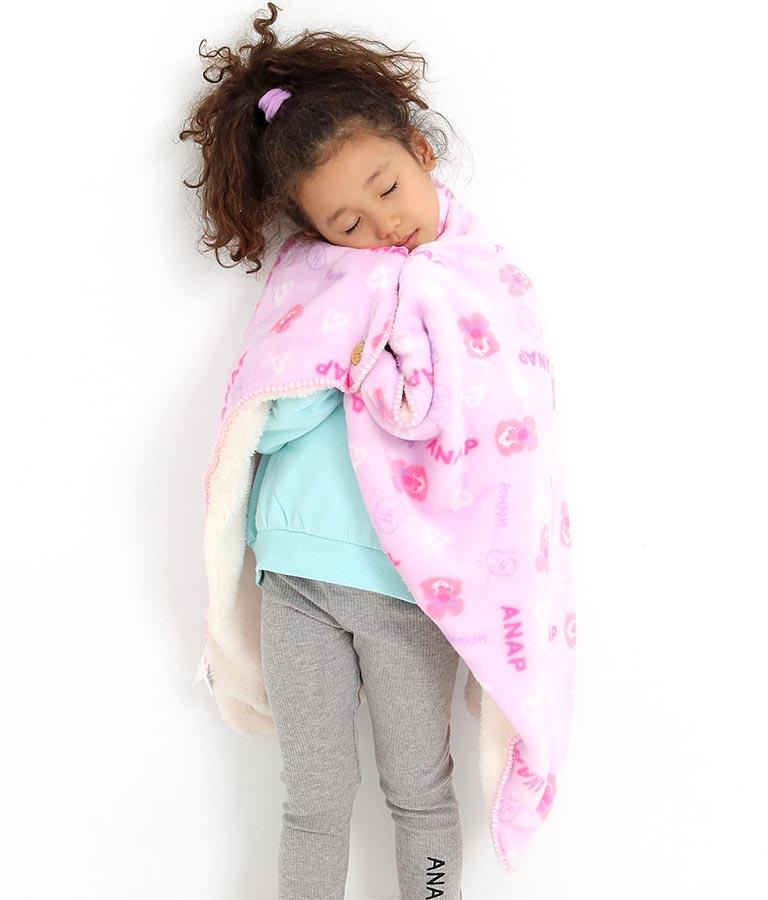 裏ボア付きひざ掛け(インテリア雑貨/ブランケット・寝具・寝具カバー) | ANAP KIDS
