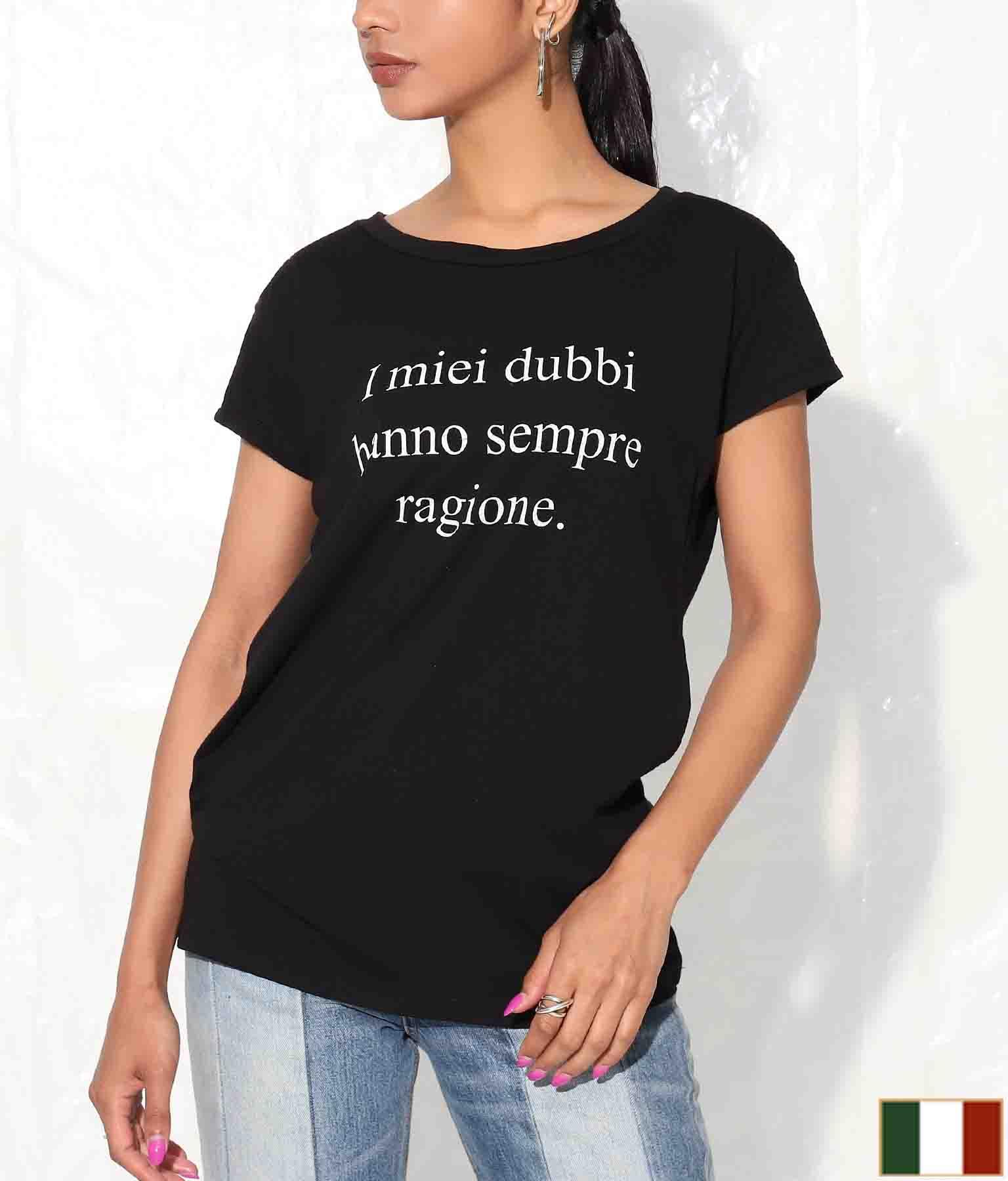 レタープリントTシャツ