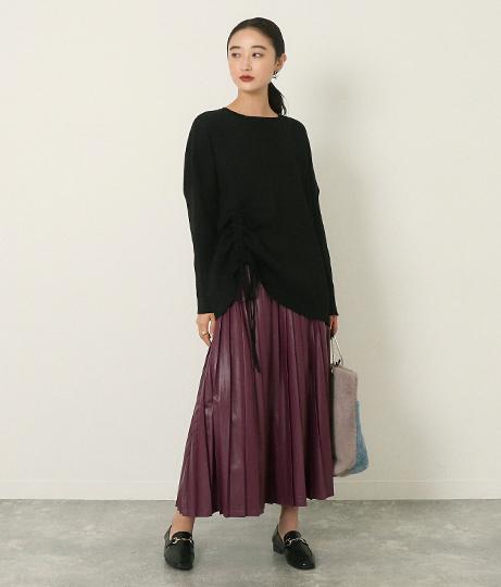 フェイクレザープリーツスカート(ボトムス・パンツ /スカート)   AULI