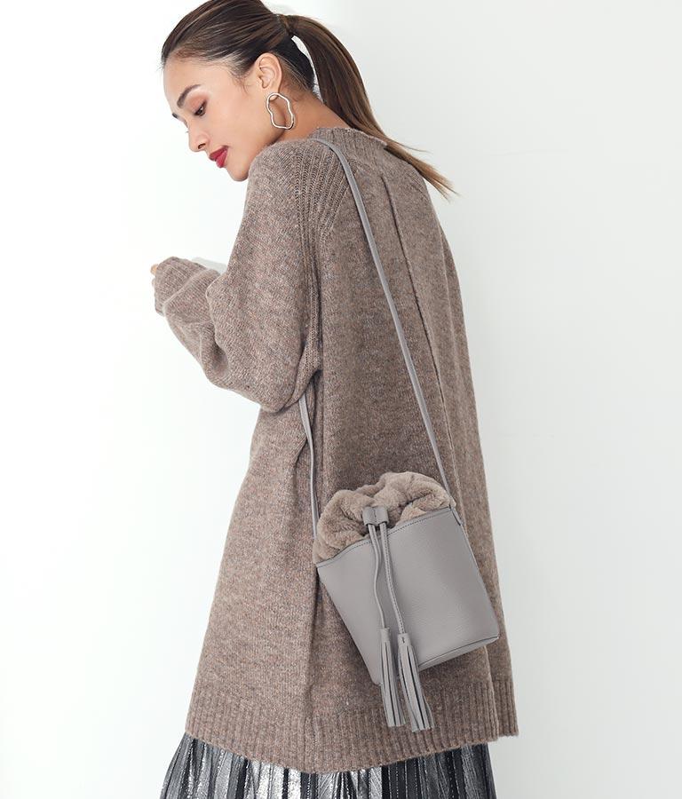 エコファー巾着バケツ型バッグ