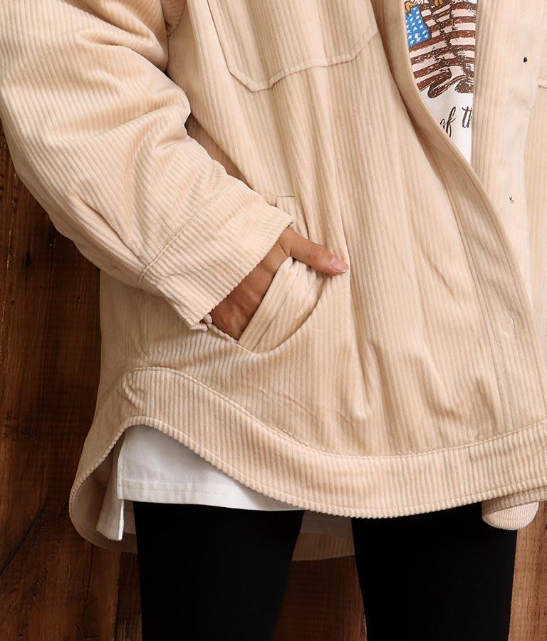 コーデュロイ中綿ジャケット(アウター(コート・ジャケット) /ボアジャケット) | anap mimpi
