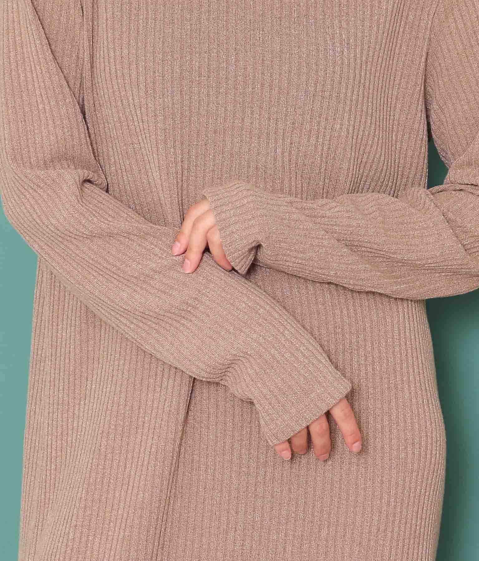 リブスリットロングワンピース(ワンピース・ドレス/ロングワンピ) | anap mimpi