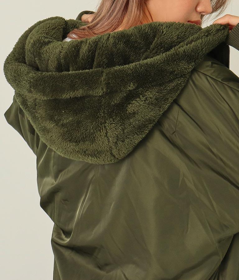 裏ボアリバーシブルフード付きジャケット(アウター(コート・ジャケット) /ボアジャケット・ジャケット・ブルゾン) | ANAP