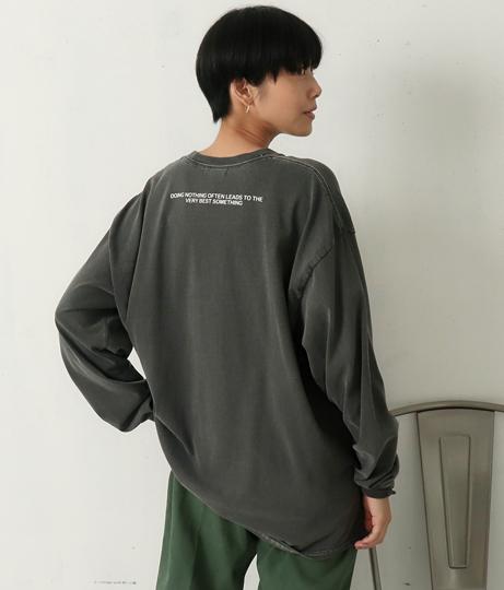 バックPT.ロゴロングTシャツ